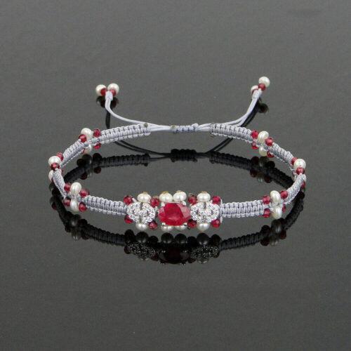 Edelstein Armband Rubin Rubellit