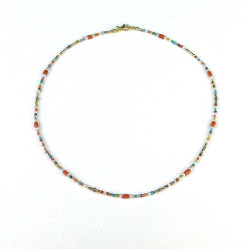 Edelstein Halskette bezaubernde Perlen
